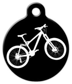 Mountain Bike Dog Pet ID Tag for Dogs and Cats - Dog Tag Art *** Continue to the product at the image link. (This is an affiliate link and I receive a commission for the sales) Dog Id Tags, Pet Tags, Nerd Chic, Pet Id, Cat Collars, Tag Art, Pet Accessories, Dog Care, Small Dogs