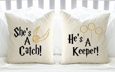 How could any Harry Potter fan pass this up?! These pillows bear the iconic…