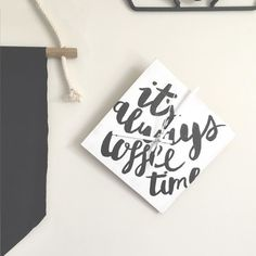 One of the projects from the January XOXkit: Typographic clock....