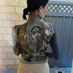 Amazing Hindu motive tattoo