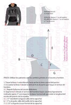 Sewing Hacks, Sewing Tutorials, Sewing Patterns, Hoodie Pattern, Couture Sewing, Pattern Drafting, Diy Clothing, Fashion Sewing, Athletic Wear