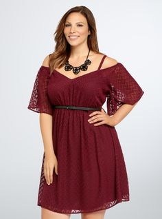Torrid Textured Off Shoulder Dress