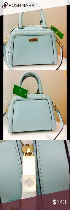 ♠️ New Small Kate Spade Bag/Authentic A bag with gold studs//// It was made not for outlets (outlet stock has lower quality materials and hardware). kate spade Bags