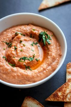 This thick and creamy red lentil dip packs a punch with spices and cayenne. Not only it's delicious with tortilla chips as a healthy appetizer, but it's also a winner in your sandwiches and wraps for lunch. eatwell101.com