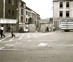 Bomb Damage at the Top of Irish Street Early 1970's - Dungannon - Northern Ireland