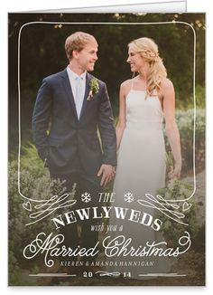 The Newlyweds 5x7 Folded Card By Float Paperie Shutterfly Newlywed Christmas Custom