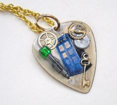 Doctor Who Guitar Pick Necklace