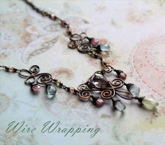 Free wire wrapping tutorials - from Danagonia