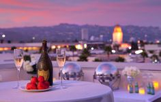 Romantic Valentine's Dinner on the Luxe Rodeo Drive Hotel Rooftop Penthouse.