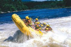 "Northern Outdoors: Penobscot River, rafting at ""Lose your lunch"" Falls"