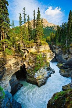 National Park is One of The Most Beautiful Places Johnston Canyon at Banff National Park in Alberta, Canada Places Around The World, Oh The Places You'll Go, Places To Travel, Places To Visit, Around The Worlds, Travel Destinations, Dream Vacations, Vacation Spots, Jamaica Vacation