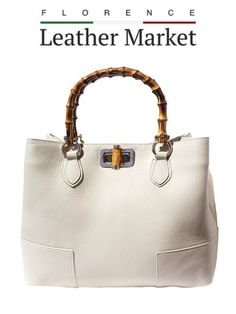 Handmade Italian Leather From Florence Italy Bag With Wooden Handle Handbags Calf Shoulder