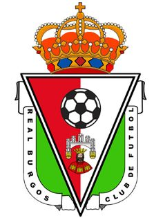 Real Burgos CF of Spain crest. Spain Football, Football Soccer, Soccer Teams, Fifa, Team Mascots, Badges, Great Logos, Crests, Team Logo