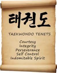 taekwondo 5 tenets - Google Search