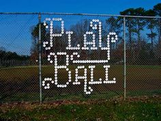 """""""Styrofoam Cup Typography"""" with baseball phrases such as """"play ball"""", """"pop fly"""", and """"home run"""", by Derek Munn Baseball Signs, Baseball Mom, Softball Mom, Softball Stuff, Baseball Party, Baseball Stuff, Baseball Season, Baseball Phrases, Baseball Field"""