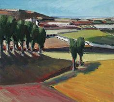 lilithsplace:  Landscape, 1956 - Henry Villierme (1928–2013)