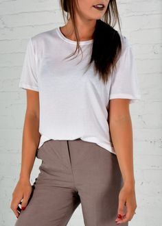 The Perfect Tee. Milled/Designed and Made In Canada. Organic Cotton/Bamboo. Basic White Tee. Scoop neck Tee.
