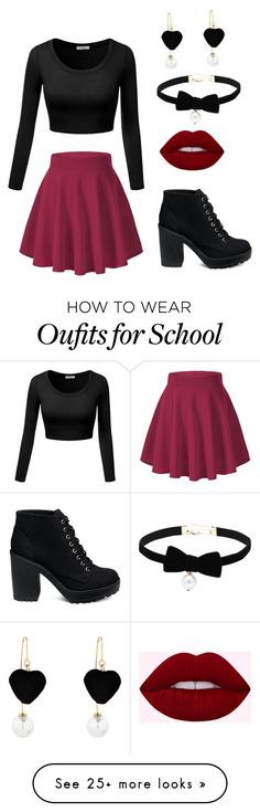 """At school"" by matylda-pesanova on Polyvore"