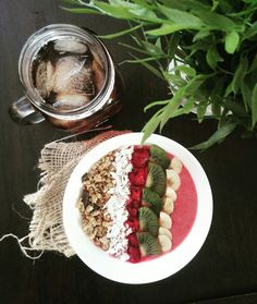 Healthy breakfast  Smouthie bowl