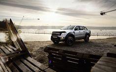 Ford Ranger, 2017 cars, pickups, offroad, white Ranger, beach, MR Car Design, tuning