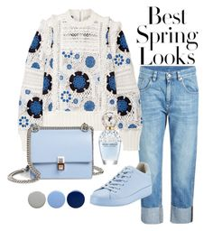 """""""Bluish spring"""" by theradiantcherie on Polyvore featuring H&M, Brunello Cucinelli, Sea, New York, Fendi, rag & bone, Marc Jacobs, Burberry and Blue"""