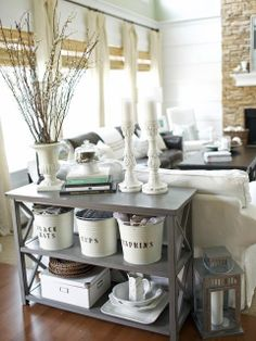 ((The buckets!)) farmhouse living room | The Country Farm Home: Inspiration for the Farmhouse Living Room Redo
