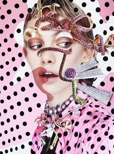 Marnie Harris By Damien Blottière In 'Mood Match' For Vogue Italia September 2013 - 8 Style Jewelry Editorial, Editorial Fashion, Vogue, Marnie Harris, Australian Pearls, Art Tumblr, The Libertines, Sparkle Shoes, Photocollage