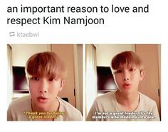 Rapmonster is an amazing leader and deserves all the respect in the world