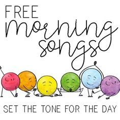 Morning Songs FREEBIE by Sarah Gardner | Teachers Pay Teachers