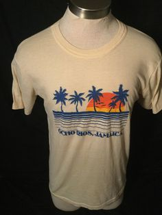 Vintage 1980's Tourist T-Shirt Jamaica Surfing 50/50 Great Color Made in USA Thin and Soft by 413productions on Etsy