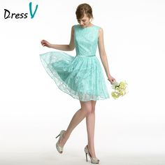 New Arrival Mint Green Lace Short Bridesmaid Dresses 2016 Summer A-Line Backless Wedding Party Guest Gown Maid of Honor Dress - CEOsShop Teal Prom Dresses, Short Lace Bridesmaid Dresses, Dresses 2016, Formal Dresses, Maid Of Honour Dresses, Maid Of Honor, Green Lace, Mint Green, Cyprus Wedding