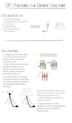 DIY Tripod Lamp - Dreibein Lampe