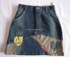 Fasion Jeans skirt - different denims
