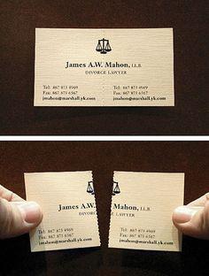 이혼 전문 변호사의 명함