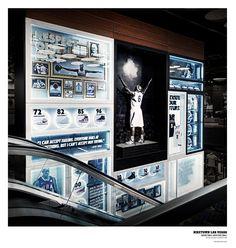 Niketown Las Vegas - Basketball Heritage Wall (concepting, art direction, curator, retail design) chrisdarmon.com
