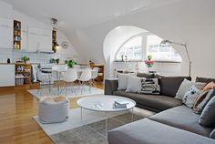Inspiring Attic Apartment Showcasing Charming Details in Sweden - http://freshome.com/2012/08/22/inspiring-attic-apartment-showcasing-charming-details-in-sweden/