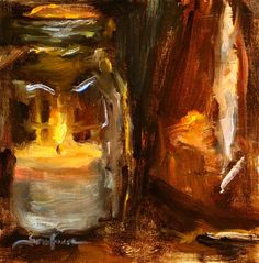 "Daily Paintworks - ""Candle Lites 02""  © Scott Serafica"