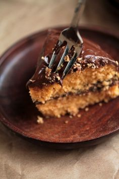 Butterscotch Cake with Chocolate Butterscotch Ganache