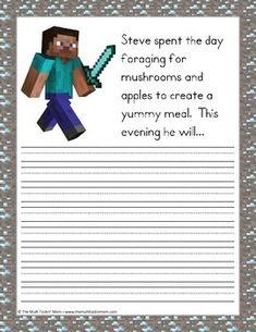 MINECRAFT STORY STARTERS - TeachersPayTeachers.com