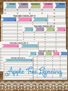 Apple Tree Learning: Classroom Organization Tool - FREE #freebie #planning #organizing #organization  #planner  #teacher