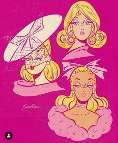 - Sveta Shubina - Barbie turns 60 this year 💖✨ Do you have a favorite Barbie decade? Cartoon Drawings, Cartoon Art, Art Drawings, Vintage Pop Art, Retro Art, Vintage Comics, Vintage Posters, Illustrations, Illustration Art