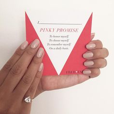 Fred and Far pinky promise self love ring