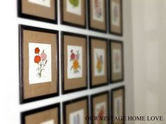 our vintage home love: Inexpensive Wall Art
