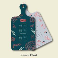 Pizza Menu Design, Cafe Menu Design, Menu Card Design, Food Menu Design, Business Card Design, Menu Restaurant, Restaurant Design, Food Graphic Design, Graphic Design Branding