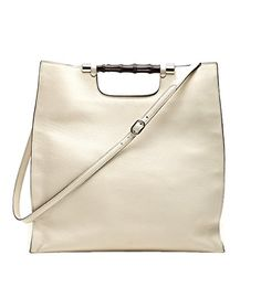 a5573658fc44ae Gucci Bamboo Daily Leather Tote Handbag (Off-White) Tote Handbags, Purses  And