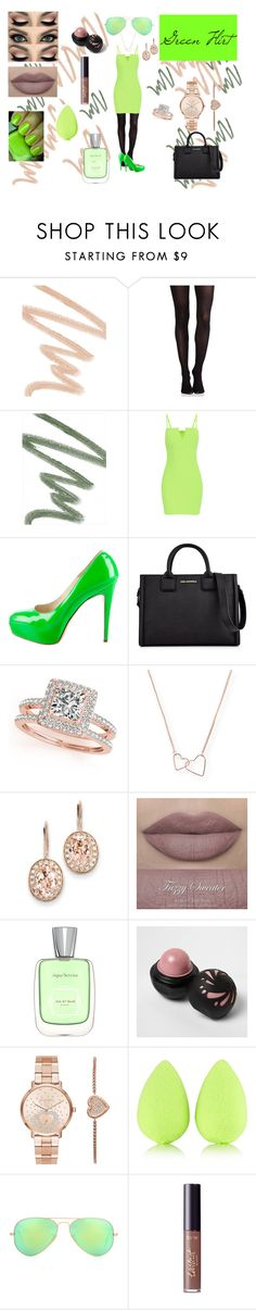"""Green flirt"" by veronika-nikkie-hajtmankova on Polyvore featuring beauty, NARS Cosmetics, SPANX, Dolce&Gabbana, Brian Atwood, Karl Lagerfeld, Allurez, Aéropostale, Kevin Jewelers and River Island"