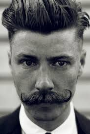 1920s hairstyles for men - I couldn't not add this photo! Love the stache! #veronahair #men