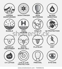 skin icon and vector losing moisturizer cancer whitening blood donation bubble health insulin uv protection diet platelet wrinkle treatment lotion freckle eye sag , Skin Treatments, Blood Donation, Wrinkled Skin, Blood Cells, Infographic Templates, Icon Design, Web Design, Icon Set, Pictogram