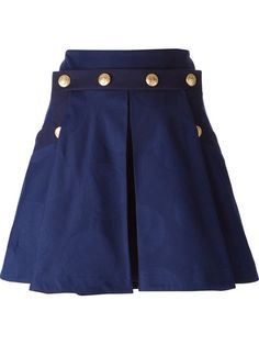 Shop Kenzo buttoned pleated skirt in Elite from the world's best independent boutiques at farfetch.com. Over 1000 designers from 300 boutiques in one website.