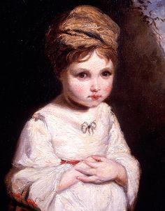 Detail - Strawberry Girl - Sir Joshua Reynolds.